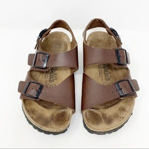 Birkenstock Brown Leather Sandals with Strap Sz